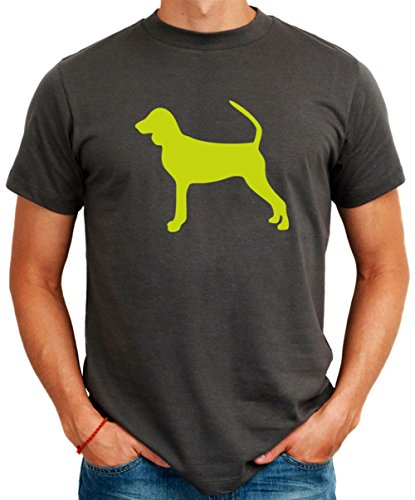 Maglietta Black and Tan Coonhound silhouette - Coonhound Silhouette