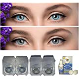 Soft Eye Grey & Blue Combo Pack 2 Pairs Of Monthly Color Contact Lenses (Grey & Blue) Zero Power with Free Lens Solution & Lens Case/Container Kit