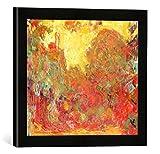 Gerahmtes Bild von Claude Monet The House seen from the Rose Garden, 1922-24