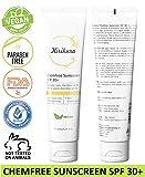 KIRIKURA Vegan Chemfree Sunscreen Broad Spectrum, UVA/UVB, SPF 30, Oil Free, Light weight