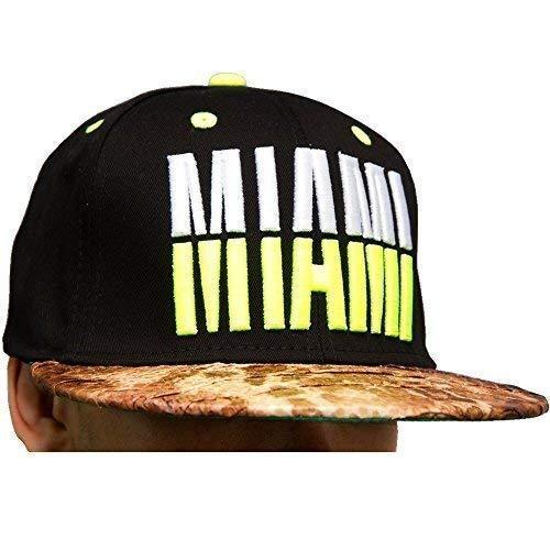 KB Ethos Miami Snakeskin Snapback Casquettes, Sommet Plat Muni De Baseball Hip hop Bling Chapeaux