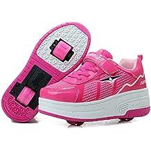 Luckly Grace Zapatillas con Ruedas Doble Ronda Neutra Automática de Skate de Patìn Zapatos Calzado de deportes de exterior para Niñas Niño pequeños