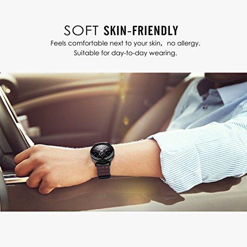 Greatfine-Reloj-Inteligente-Smart-Watch-22mm-Silicona-Banda-de-Reloj-de-la-correa-de-para-Samsung-Galaxy-Gear-2-R380-Neo-R381-Live-R382-MOTO-360-2ndPebble-Time-LG-G-Watch-W100W110Urbane-Smartwatch