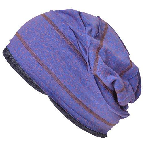 Casualbox Dames hommes bonnet tombant tricoté bonnet chapeau Coloré lumière été Pourpre