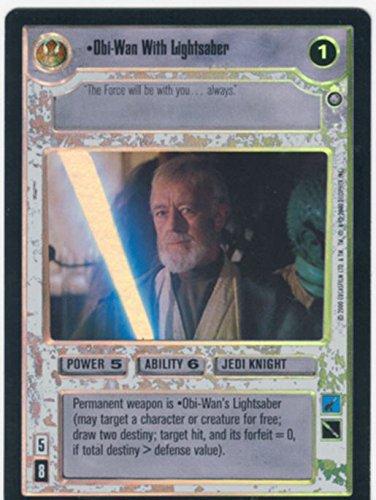 Star Wars CCG Reflections II Boxtopper Folie Obi Wan mit Laserschwert