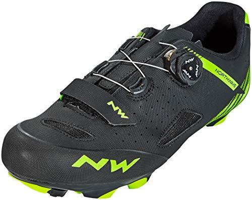 Northwave Origin Plus MTB Fahrrad Schuhe schwarz/grün 2020: Größe: 46