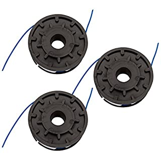 First4spares double feed spool & line for most Grizzly, Performance Power, JCB, MacAllister, Draper, Parkside, Florabest & Qualcast strimmers - 3 Pack