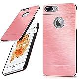 Apple iPhone 7/8 Plus Hülle Dünn Rosé-Gold [OneFlow Aluminium Back-Cover] Schutz Handytasche Ultra-Slim Handy-Hülle für iPhone 7/8 + Plus Case Metall Schutzhülle Alu Hard-Case
