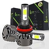 Comprajunta 2Xmini 6 Headlight Bulbs Rental LED Lights Super Bright Lamp With COB Chip For Car Vehicle Auto Car Anti-Fog Light,H11