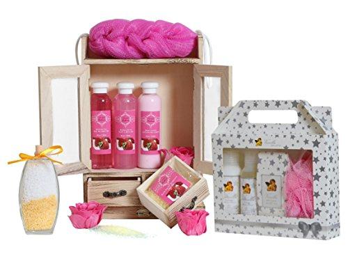 """15-teiliges BRUBAKER Beauty Geschenkset """"Erdbeer & Vanilla"""""""