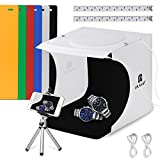 Puluz Portable Mini Foto Lichtzelte With LED Light - The Best Small Folding Product Lighting Kit Light Box Tent (Two LED Lightbox / 40 LED / Six Color Background)