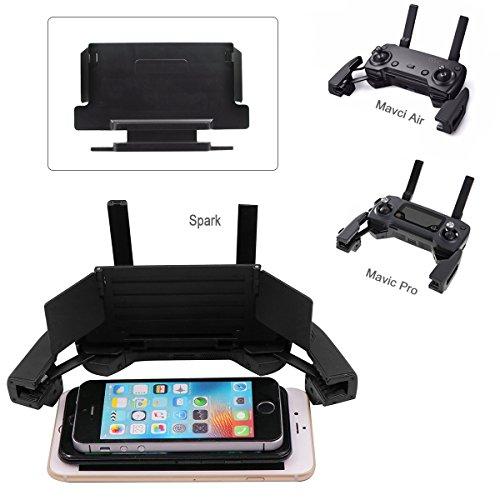 4 - 6 Pulgadas Smartphone Monitor Sun Hood Sunshade para dji Mavic Pro / Mavic 2 Zoom/ Mavic Air / Spark Accesorios RC Drone Remote Control para iPhone 7 + / iPhone 6 Plus / iPhone 5 Samsung Android