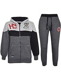989ea23cc A2Z 4 Kids® Kids Tracksuit Boys Designer HNL Projection Print Hoodie &  Botom Jogging Suit