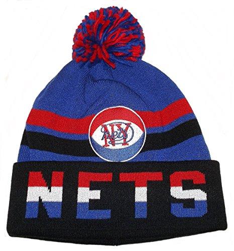 Mitchell & Ness New York Nets NBA Trifecta Vintage Logo Strickmütze - Blau