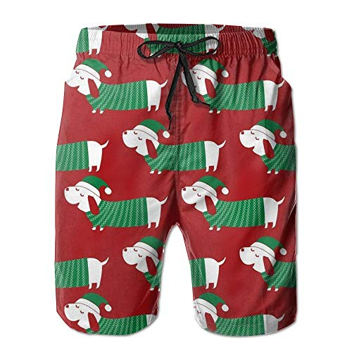 Fashion Green Christmas Dogs Summer Shorts Swim Trunk Quick Dry Casual Summer Beach Shorts with Pockets XL (Orange Jordan Shorts)