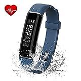Shinmax Fitness Armband Uhr Tracker mit Pulsmesser/Schlaf-Monitor,Wasserdicht IP67,IOS&Android