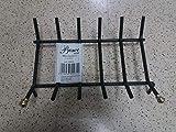 K2Calore 355072 - Griglia per camino in ferro battuto, 48x 28x 16cm, colore: nero