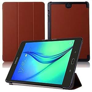 Smart Cover pour Samsung Galaxy Tab A SM-T550 T551 T555 9.7 Pouce Case Stand Slim Flip (Marron) NEUF