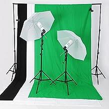 Amzdeal Kit Attrezzatura Fotografica 2 x ombrello, 2 x 125W