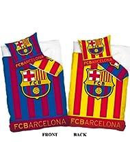 FC Barcelona Housse de couette réversible unique et taies d'oreiller