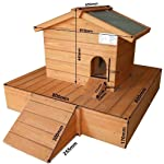 Easipet Duck House wooden floating platform 263 8