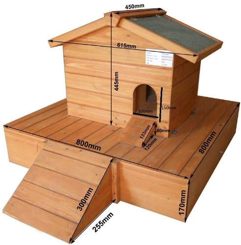 Easipet Duck House wooden floating platform 263 1