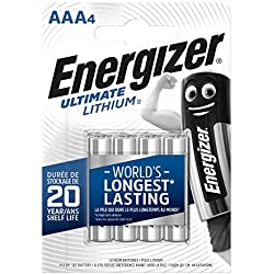 Piles Energizer Ultimate Lithium AAA, pack de 4
