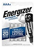 Energizer 639171 Ultimate AAA Lithium Batteries (Pack of 4)