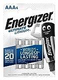 Batterie Energizer Ultimate Lithium AAA, confezione da 4