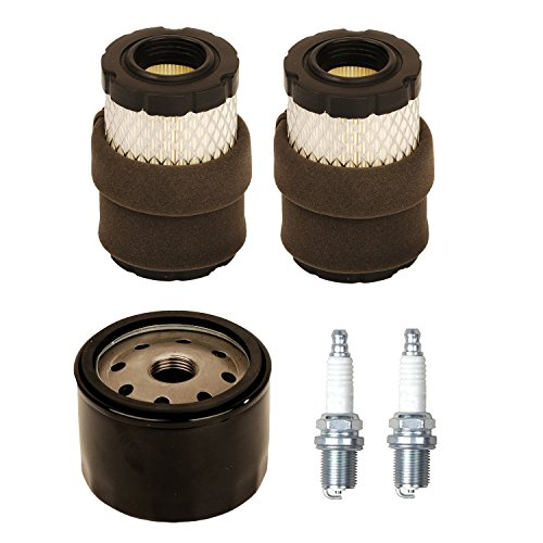 Auto-shut-off-kit (OxoxO 796031 591334 594201 Air Filter With 492056 Oil Filter Spark plug for Briggs & Stratton 31A507 31A607 31A677 31A707 31A807 31C707 31E577)