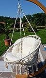 DESIGN Hängesessel Stoffsessel Schwebesessel Hängekorb CATALINA mit Kissen (ohne Holzgestell) von AS-S