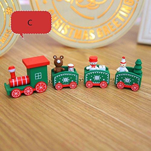 (Gold butterfly@ Weihnachten Holzkutsche Kinder Kindergarten Festival Weihnachtsgeschenke Weihnachtsdekoration Geschenke (21 * 5 * 2,7 CM))