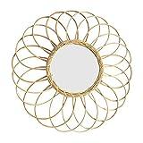 RecoverLOVE Specchi da Parete Specchio Decorativo da Parete sospeso con Specchio Rotondo in Rattan Naturale Soggiorno a Forma di Sole Specchio a Parete Art Déco Moderno
