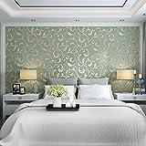Kuamai 3D - Format Einfach Im Europäischen Stil Aus Hochwertigen Stoff Schlafzimmer Wohnzimmer Tv Hintergrund Tapete Grüne