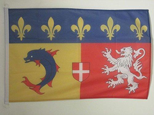 FLAGGE RHÔNE-ALPES 90x60cm - RHÔNE-ALPES FAHNE 60 x 90 cm Aussenverwendung - flaggen AZ FLAG Top Qualität