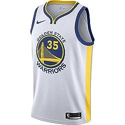 Nike Gsw M Nk Swgmn Jsy Home Camiseta 1ª Equipación Golden State Warriors de Baloncesto, Hombre, Blanco (Blanco/Amarillo/Rush Blue), M