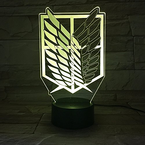 tan Wings Of Liberty 3D Licht Touch Led Lampe Usb Oder Betrieben Lampe Kinder Geschenk 3D Nachtlicht ()