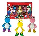 Super Mario 6cm Yoshi Minifiguren 3er Set