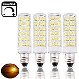 Bonlux 6W Regulable SES E14 Bombilla LED con 550 Lúmenes, Reemplazo de 50W, para la Iluminación de Lámpara de Cristal, Lámpara de Pasillo, Araña, Lámpara de escritorio (4-Unidades, Luz Cálida 3000k)