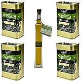Olipaterna Olivenöl Kaltgepresstes Extra Virgin   Aus Andalusien   100% natürliches & reines Olivenöl für Feinschmecker   4 Stück 250 ml Kanister   100 ml Olipaterna Geschenk