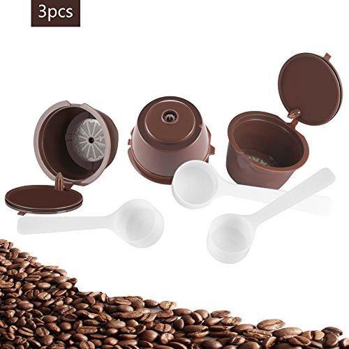 Konesky refillable capsule caffè riutilizzabile compatibile per nescafe capsule dolce gusto genio, piccolo, esperta and circolo (3pezzi)