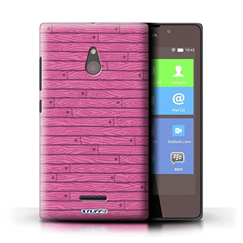 Kobalt® Imprimé Etui / Coque pour Nokia XL / Bleu conception / Série Motif Bois Rose
