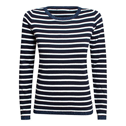 Maison Scotch - Maison Scotch Striped - Felpa - Navy Stripe bianco/blu S