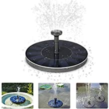 Pompa a fontana a energia solare, per irrigazione piante, kit con pannello solare monocristallino, per giardini, stagni, vasche per uccelli, a risparmio energetico, ecocompatibile e universale
