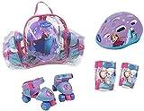 Disney Kinder Skating Frozen Quad Rollschuhe Mit Schutz Set & Bag (24-29)