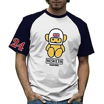 Retro Formula 1 Historic Hesketh Racing Grand Prix 100% Cotton T-Shirt Small