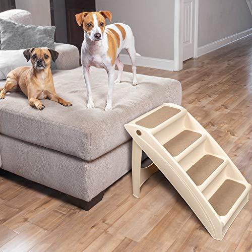 PetSafe Solvit Pupstep Plus Haustiertreppe, 4 Anti-Rutsch Stufen, für Hunde und Katzen (Für Boot-leiter Hunde)