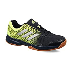 Adidas Mens Net Nuts Indoor Legink/Silvmt/Syello Badminton Shoes-9 UK/India (43 1/3 EU)(CJ1037)