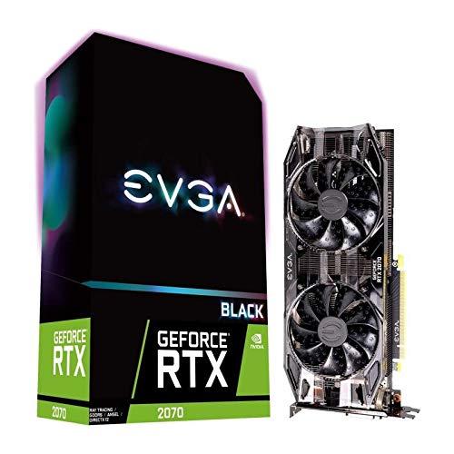 EVGA GeForce RTX 2070 Black Gaming, 8GB GDDR6, Dual HDB Lüfter, Grafikkarte 08G-P4-1071-KR -