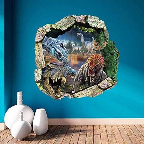 Adesivo da parete Fulltime® wall stickers, 3D dinosauro animale adesivi murali decalcomanie di arte murale Carta da parati decorazione della stanza domestica della decorazione di DIY
